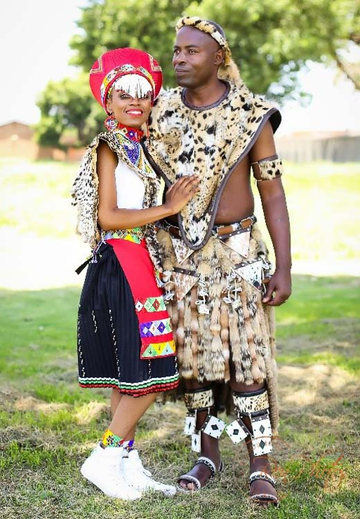 traditional south african wedding couple